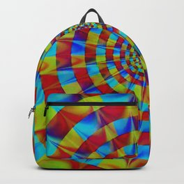 ZOOM #1 Vibrant Psychedelic Optical Illusion Backpack