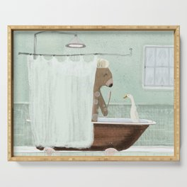 shower time Serving Tray