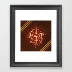 Sigil of Gryffindor Framed Art Print