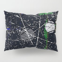 Abstract Black and White Etching Design Pillow Sham