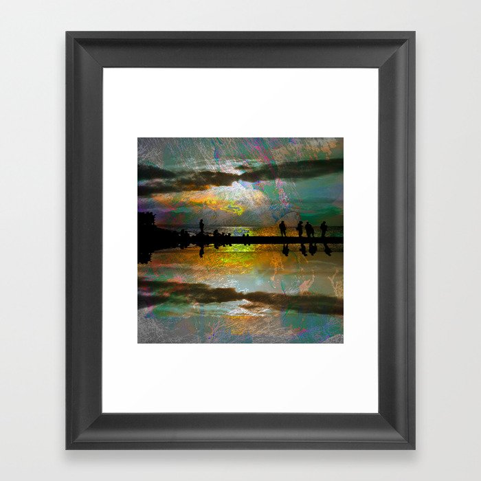 Abstract-art sunset Framed Art Print