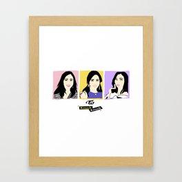 Knock Knock! Mina Version Framed Art Print