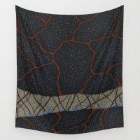 kaiju Wall Tapestries featuring kaiju (cropped) by thefleafarm (Amy Wright)