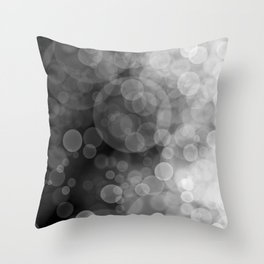 Black and White Spotted3 Throw Pillow