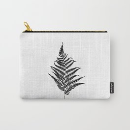 Fern silhouette. Isolated on white background Carry-All Pouch