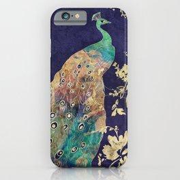 Peacock Eyes Blue iPhone Case