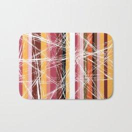 Worn-out stripes Bath Mat