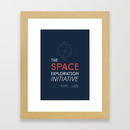 The Space Exploration Initiative Framed Art Print