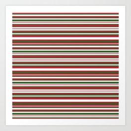 Christmas Striped Patterns Art Print