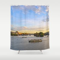 prague Shower Curtains featuring Prague by Barrettish