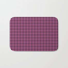 Mini Black and Pink Cowboy Buffalo Check Bath Mat