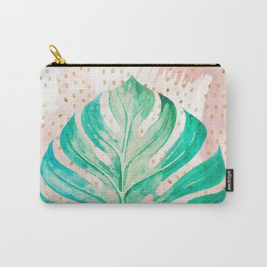 Leaf plant with golden points Carry-All Pouch