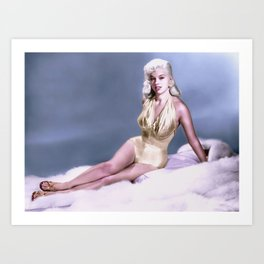 Diana Dors 50s Bombshell Art Print