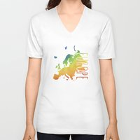europe V-neck T-shirts featuring Europe by Stephanie Wittenburg