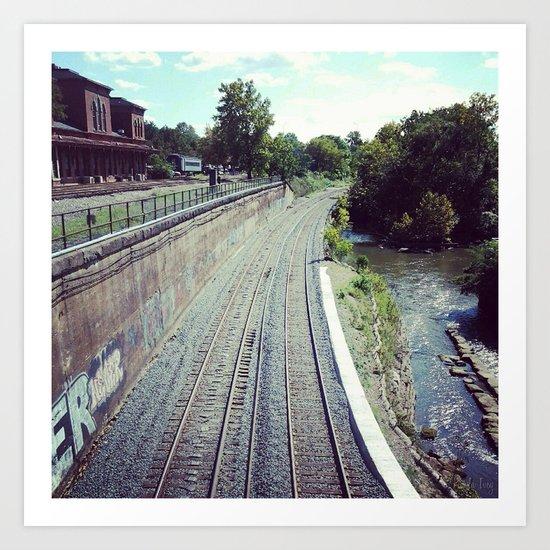 Train Tracks Art Print