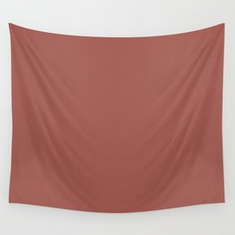 Aged Wine Dark Red Clay Brown Solid Color Pairs To Sherwin Williams Bold Brick SW 6327 Wall Tapestry
