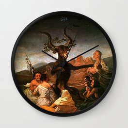 The Sabbath of witches - Goya Wall Clock