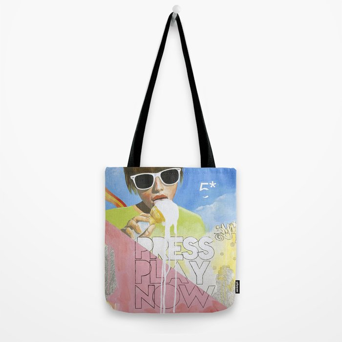 Press Play Now Tote Bag