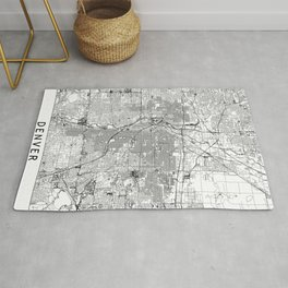 Denver White Map Rug