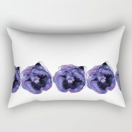 Purple Pansy Pattern Rectangular Pillow