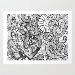 octupi heart Art Print
