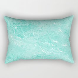 Modern turquoise white abstract marble pattern Rectangular Pillow