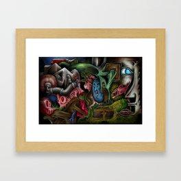 """""""Sea Bottom Life"""" Framed Art Print"""