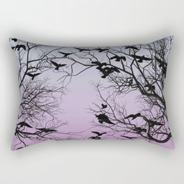 Crow flock Rectangular Pillow