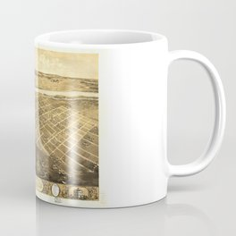 Bird's Eye View of Lawrence, Kansas (1869) Coffee Mug