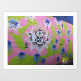 Graffiti Coffee Wall Wide Art Print