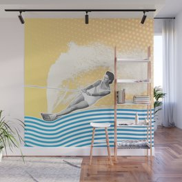 She's Workin' that Rooster Tail Wall Mural
