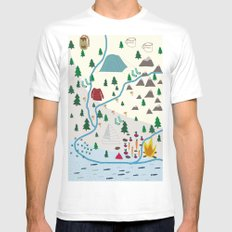 summer camp MEDIUM White Mens Fitted Tee