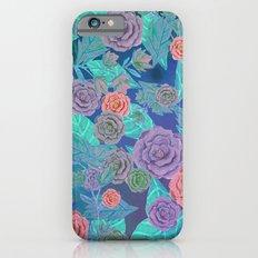 Vintage Flowers (Blue) Slim Case iPhone 6s