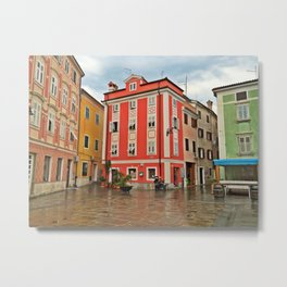 Apartments in Parin, Slovenia Metal Print