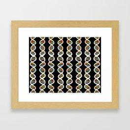 Double Helix Framed Art Print
