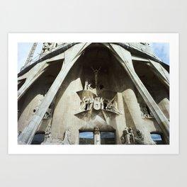 chiesa della sagrada familia Art Print