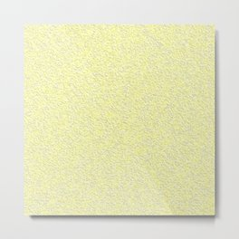 Yellow plaster texture Metal Print