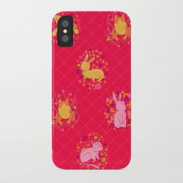 Picnic Pals animals in strawberry iPhone Case