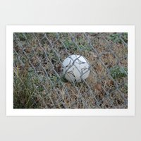 soccer Art Prints featuring Soccer by P4XProducts