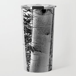 Three Aspens Black & White Travel Mug