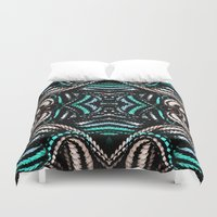 water colour Duvet Covers featuring Water Colour Spine Weave by Cezanne Agatha Gramson