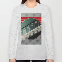 Stairway - red graphic Long Sleeve T-shirt