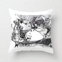 circus Throw Pillows featuring Circus by Ivanushka Tzepesh