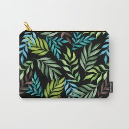 Tropical leaf pattern. Watercolor Carry-All Pouch