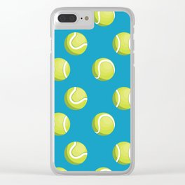 Smashing Tennis Ball Pattern Clear iPhone Case