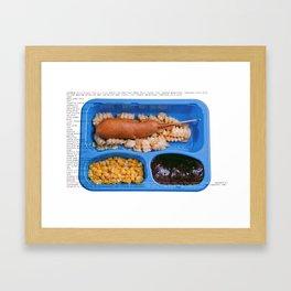 All American Ingredients - Carnival Corn Dog Framed Art Print