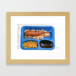 All American Ingredients - Carnival Corn Dog Framed Art Print