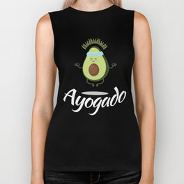 Ayogado   Yoga Avocado Biker Tank