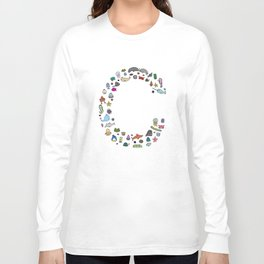letter c - sea creatures Long Sleeve T-shirt