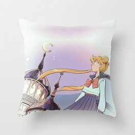 Moonlight Legend · Night Version Throw Pillow